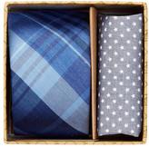 Original Penguin Conrad Plaid Tie & Pocket Square 2-Piece Set