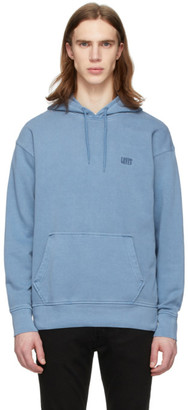 Levi's Levis Blue Serif Logo Original Pullover Hoodie