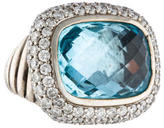 David Yurman Blue Topaz & Diamond Waverly Ring
