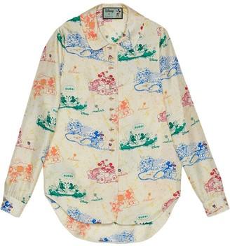 Gucci x Disney Mickey and Minnie print shirt