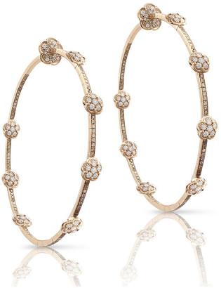 Pasquale Bruni Figlia dei Fiori 18k Rose Gold Diamond Hoop Earrings