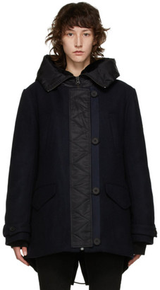 Army by Yves Salomon Yves Salomon - Army Navy Wool Hooded Parka