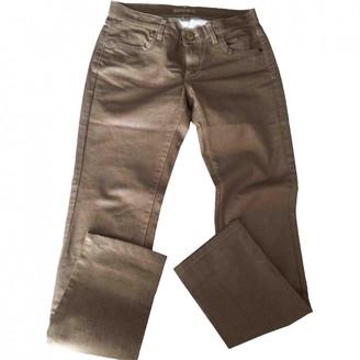 Sandro Gold Cotton - elasthane Jeans for Women