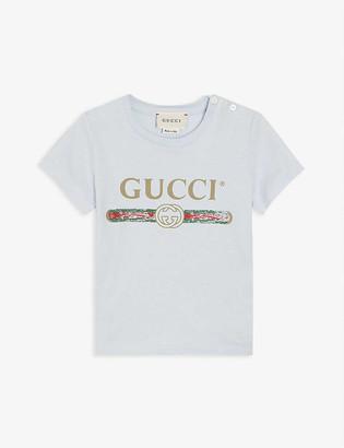 Gucci Vintage logo cotton T-shirt 0-36 months