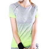 QIYUN.Z Women Lady Sport Yoga Outdoor Running T-shirt Quick Dry Short Sleeve Short Sleeve