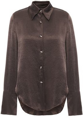 Nanushka Mandine Washed Crepe De Chine Shirt