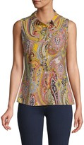 Tommy Hilfiger Paisley Sleeveless Shirt