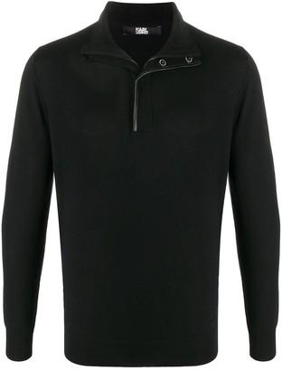 Karl Lagerfeld Paris Half-Zip High-Neck Sweater