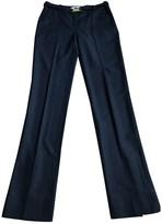 Diane von Furstenberg Navy Wool Trousers