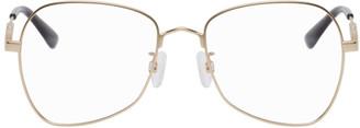 McQ Gold Metal Glasses