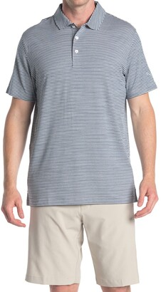 Puma Caddie Green Stripe Golf Polo