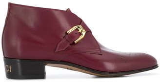 Gucci Monogram Detail Ankle Boots