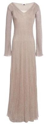 M Missoni Pointelle-trimmed Metallic Ribbed-knit Maxi Dress