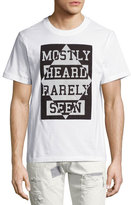 Mostly Heard Rarely Seen Argyle Inverted Logo T-Shirt, White