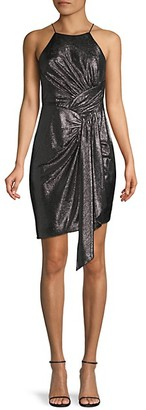 Adrianna Papell Asymmetrical Mini Dress