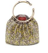 Valentino Bebop Loop crystal-embellished clutch