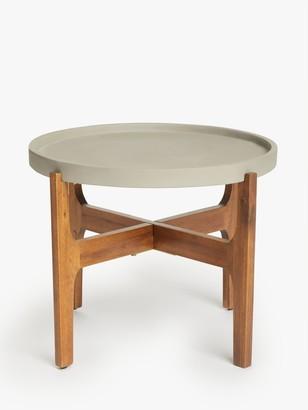 John Lewis & Partners Ameria Tray Large Side Table, Grey