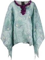 Etro abstract print poncho