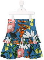 Marni printed ruffled skirt