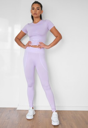 Missguided Lilac Seamless Msgd Highwaisted Gym Leggings