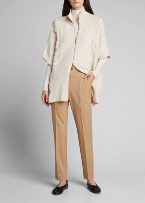 Lafayette 148 New York Cashmere Zip-Front Poncho