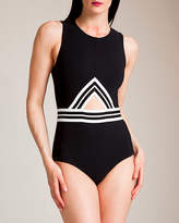 Karla Colletto Parallel High Neck Tank Swimsuit