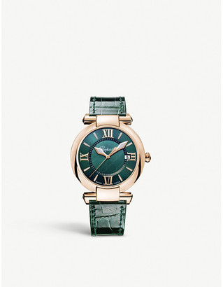 Chopard 384221-5013 Imperiale rose gold and leather tourmaline watch