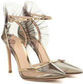 Gianvito Rossi PVC and metallic leather pumps