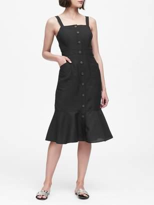 Banana Republic Linen-Blend Button-Front Dress