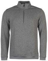 Ashworth Mens Heather Golf Sweater Jumper Pullover Long Sleeve Zip Half Warm