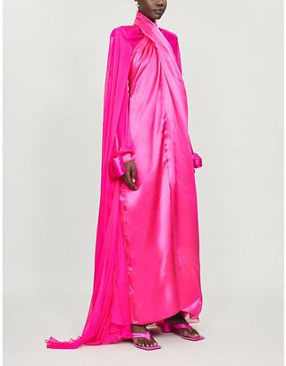 Richard Quinn High-neck silk gown