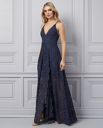 Le Château Corded Lace Wrap-Like Gown