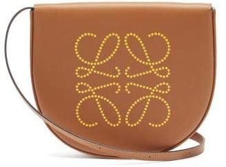 Loewe Heel Foiled-logo Leather Mini Shoulder Bag - Tan