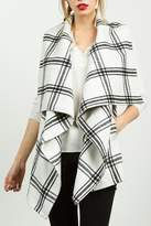 Tcec White Plaid Vest