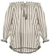 Zimmermann Aerial striped cotton top