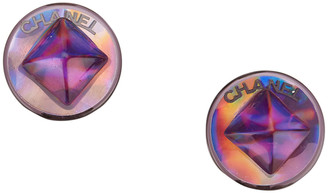 Chanel Circular Push Back Earrings