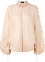 Joseph sheer drawstring detail shirt - women - Cotton/Silk - 38