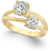 Charter Club Gold-Tone Cubic Zirconia Two Stone Ring, Only at Macy's