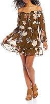 GB Off The Shoulder Tassel Dress