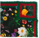 Gucci Flora Web print shawl - women - Silk/Wool - One Size
