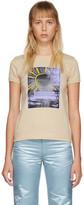 Marc Jacobs Beige Graphic Cap Sleeve T-Shirt