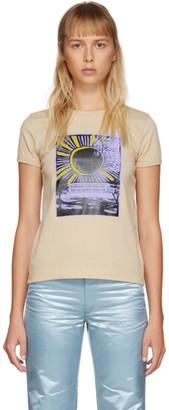 Marc Jacobs Beige Graphic Cap Sleeve T-Shirt