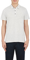 Vince Men's Flecked Polo Shirt-WHITE