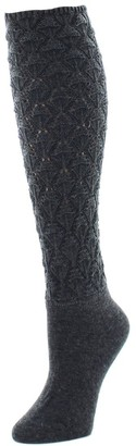 Natori Variegated Knit Schiffli Knee High Socks