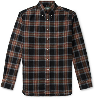 Gitman Brothers Button-Down Collar Checked Brushed-Cotton Oxford Shirt