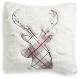 Levtex Plaid Reindeer Pillow