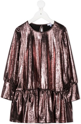 Piccola Ludo Metallic-Effect Shift Dress