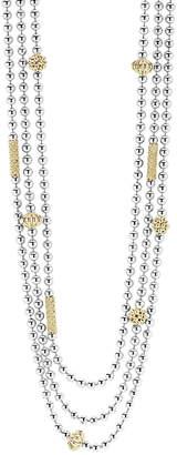 Lagos Caviar Icon 18K & Silver Necklace