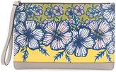 Furla floral print clutch