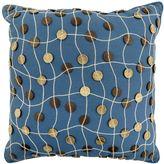 Button Feather Decorative Pillow